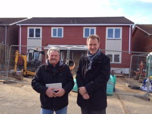 Housing journalist, Bill Randall, and BHT chief executive, Andy Winter, at Lambert Place, Lewes